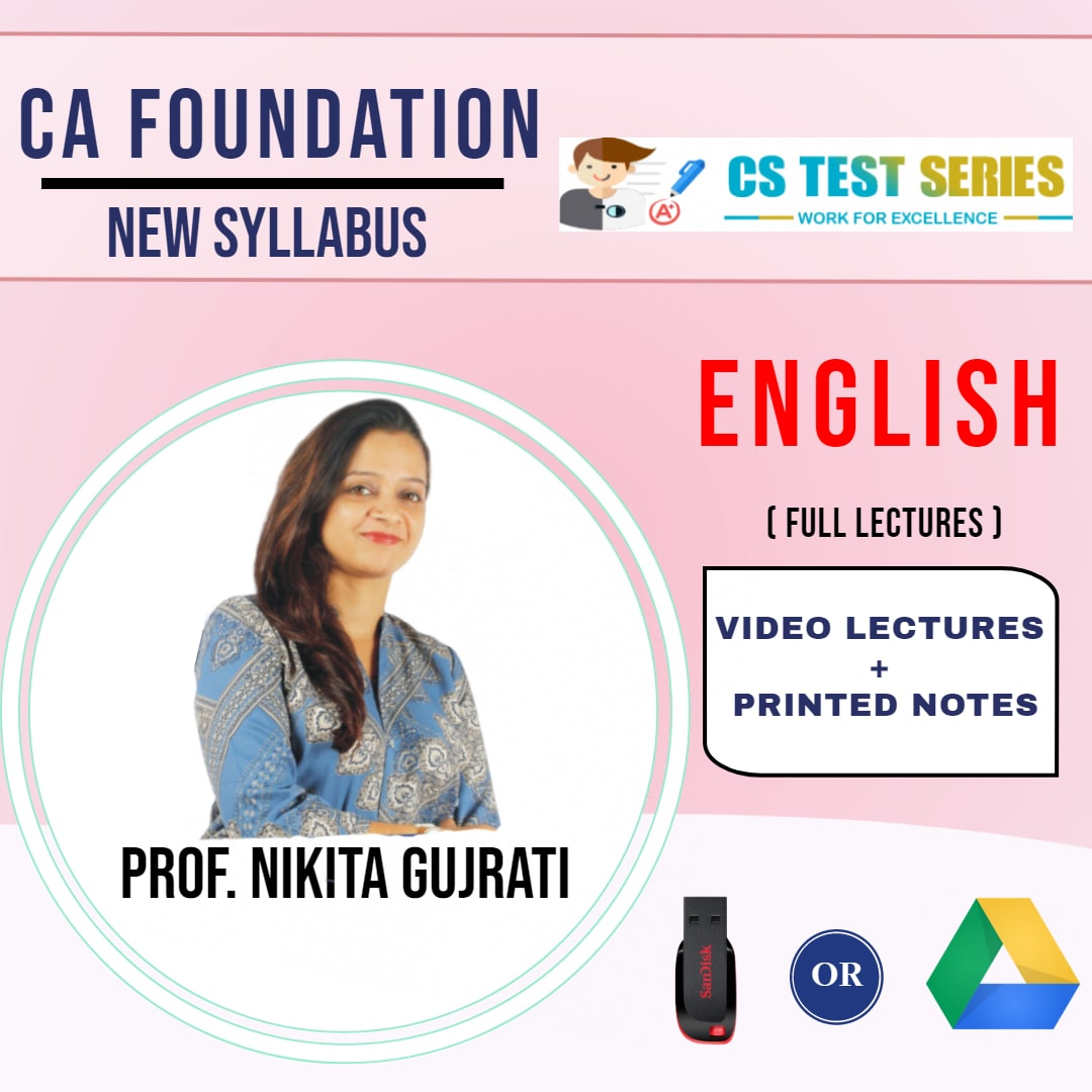 CA FOUNDATION English Only Full Lectures By Proff Nikita Gujrati