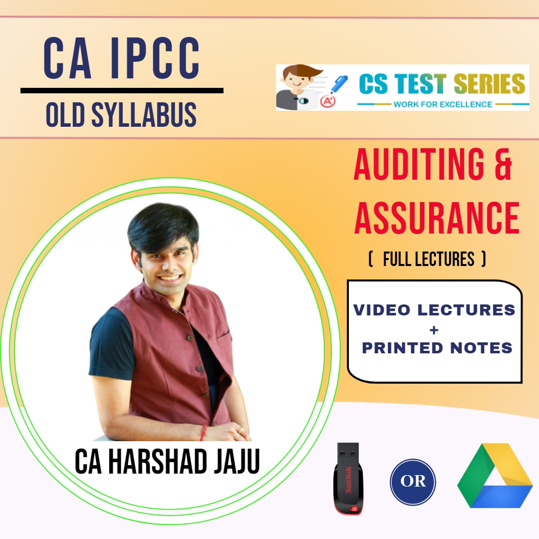 CA IPCC GROUP II Auditing and Assurance Full Lectures By CA HARSHAD JAJU