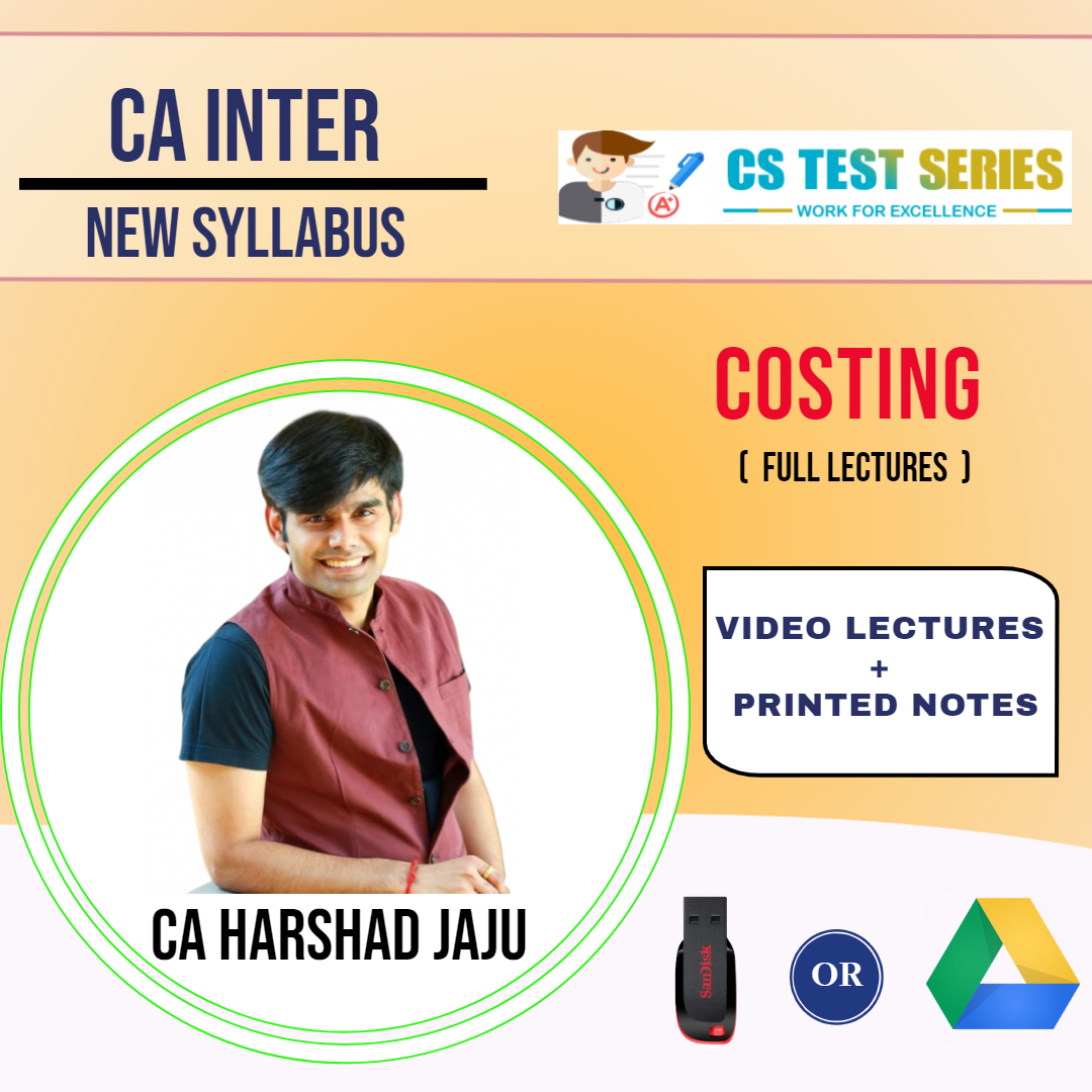 CA INTERMEDIATE GROUP I Cost and Management Accounting Full Lectures By CA HARSHAD JAJU