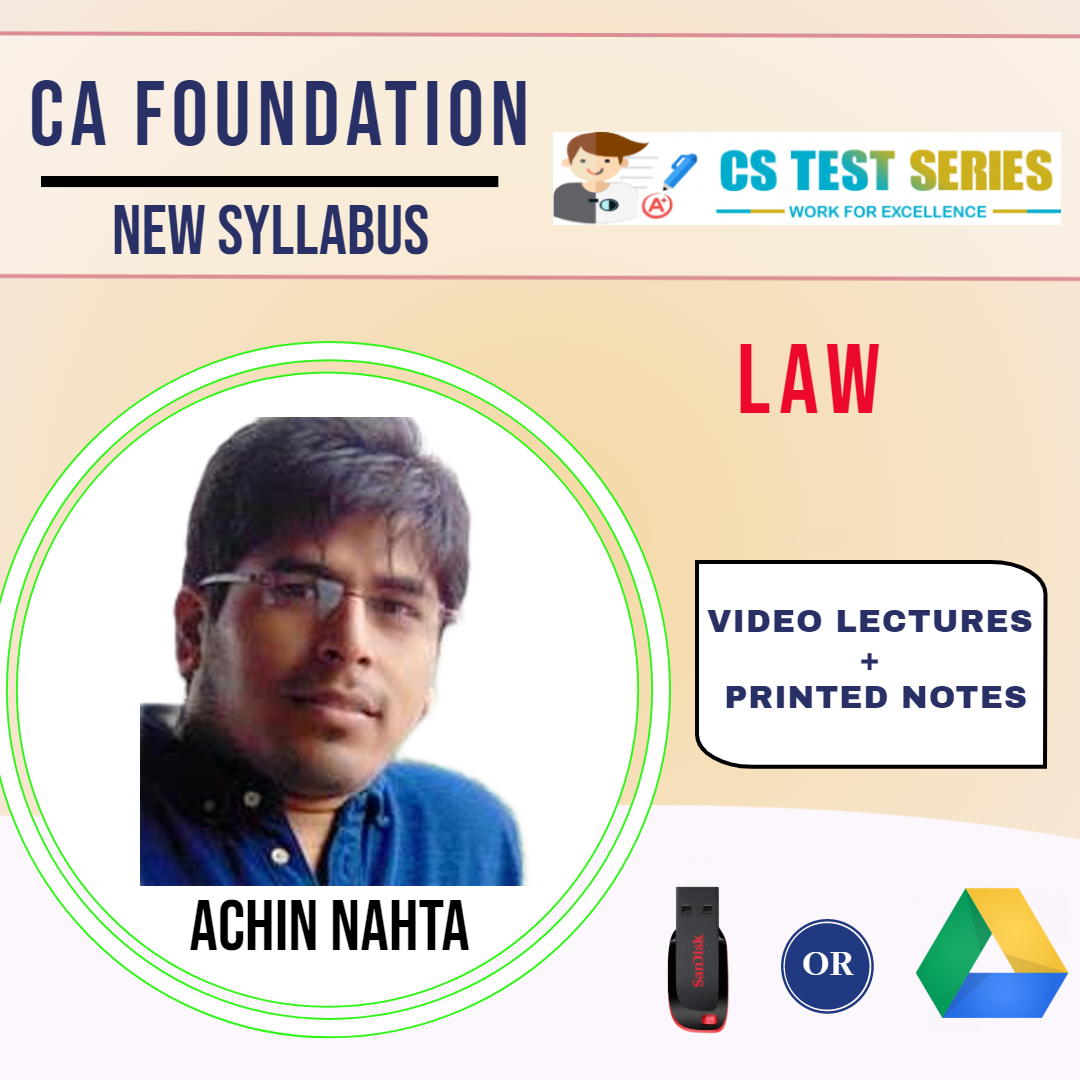 CA Foundation Law Video Lectures by Achin Nahta (USB)