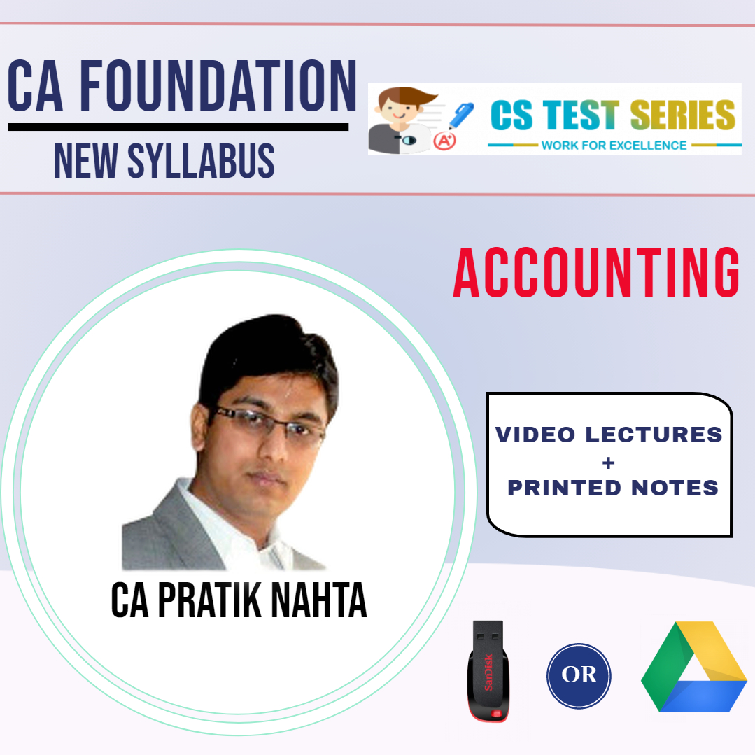 CA Foundation Accounts Video Lectures by CA Pratik Nahta (USB)