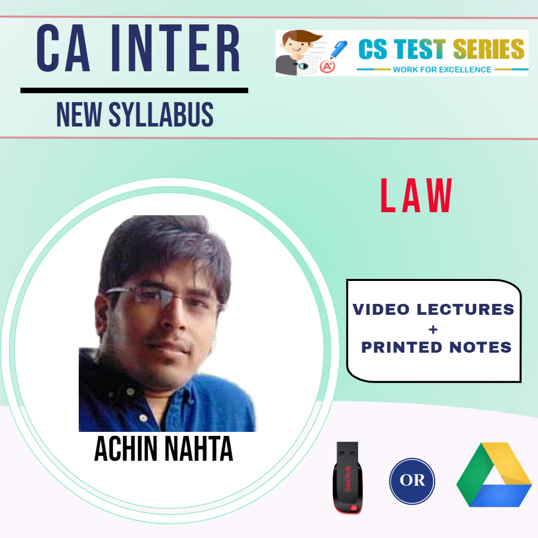 CA Inter Law Video Lectures by Achin Nahta (Download)