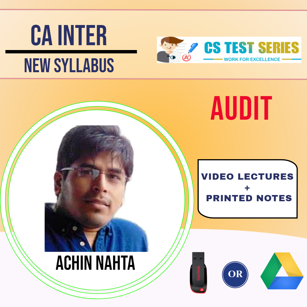 CA Inter Audit Video Lectures by Achin Nahta (USB)