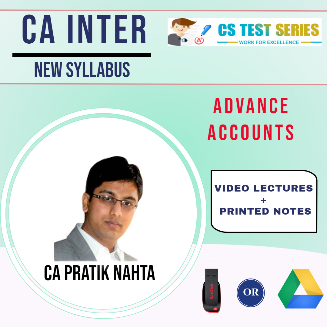 CA Inter Advanced Accounts Video Lectures by CA Pratik Nahta (USB)