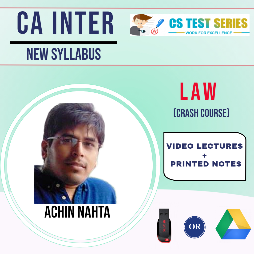 CA Inter Law Crash Course Video Lectures by Achin Nahta (USB)