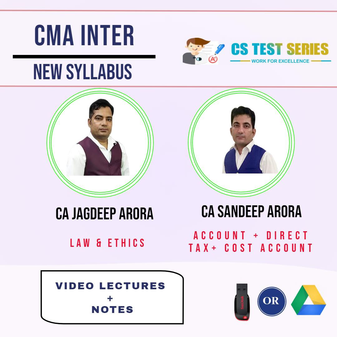 CMA Inter Group 1 (Soft Copy) By CA Jagdeep Arora , CA Sandeep Arora
