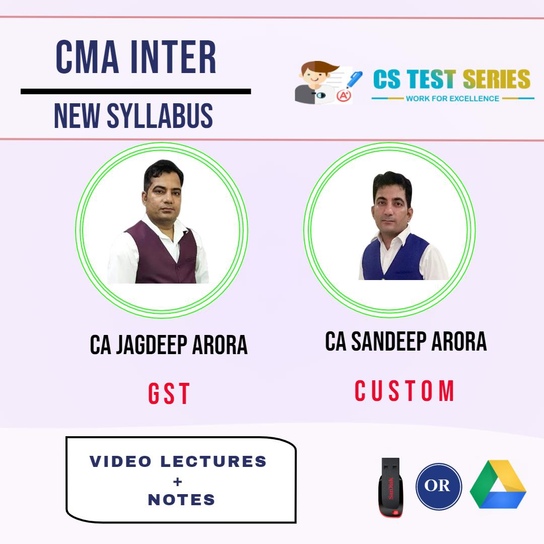CMA Inter Group 2 Indirect Tax (Soft Copy) By CA Jagdeep Arora , CA Sandeep Arora