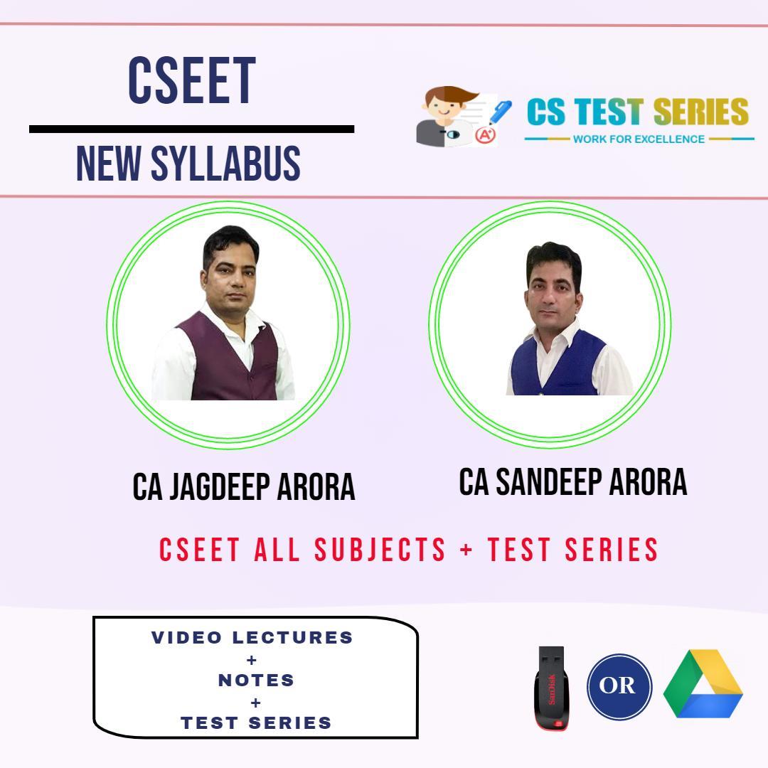 CSEET(CS Executive Entrance Test ) By CA Jagdeep Arora , CA Sandeep Arora