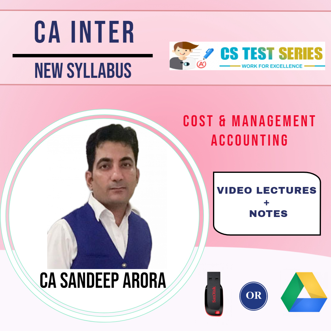CA INTER New Cost and Management Accounting (Soft  Copy) BY CA SANDEEP ARORA